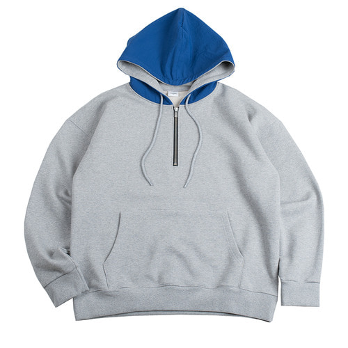 solid nylon cap hood -grey-